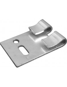 Equerres de fixation plates pour câbles de filets de protection anti volatiles
