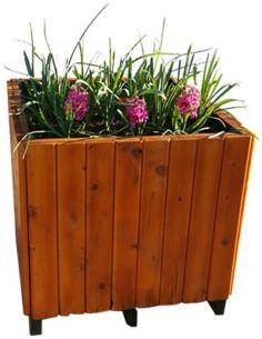 Jardinière en bois - Taille 6