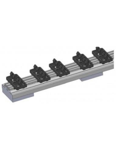 Rail Aluminium pour pose sur surface préparée avec fixation clips juan