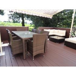 Lame de terrasse composite PVC / Chanvre - CHAUSEY 138