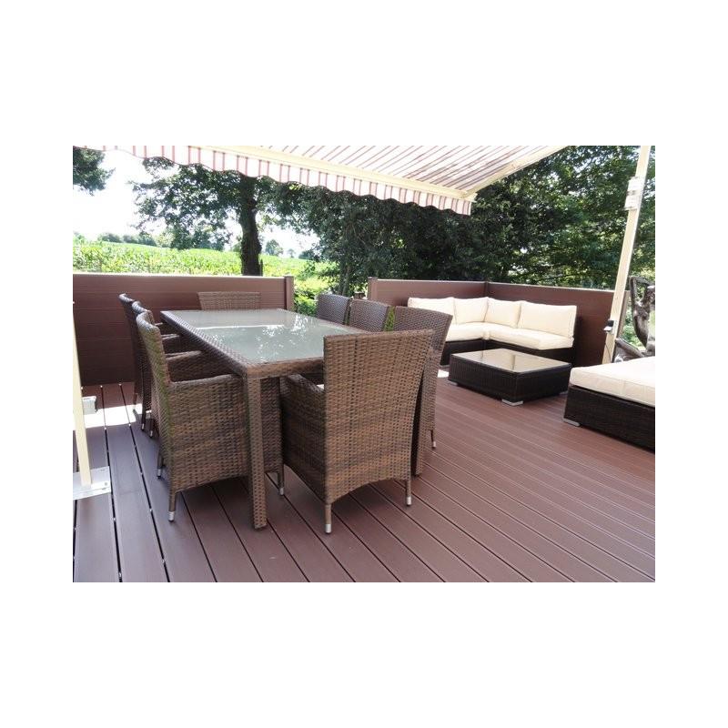 Lame de terrasse composite pvc chanvre - Lame pvc exterieur terrasse ...