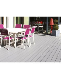 Lame de terrasse composite PVC / Chanvre - CHAUSEY 145