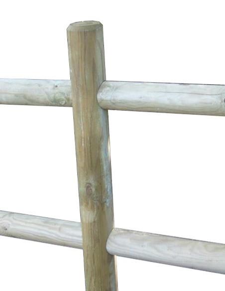 Rondins, Poteaux bois